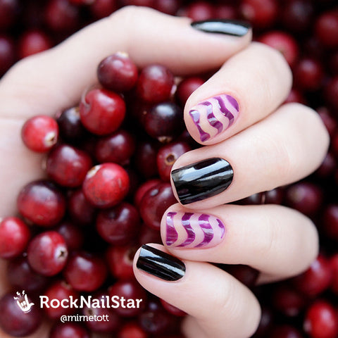 RockNailStar vinyl stencils and stickers - Waves