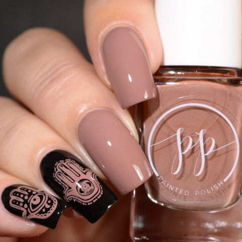 Painted Polish - Stamped in Mocha
