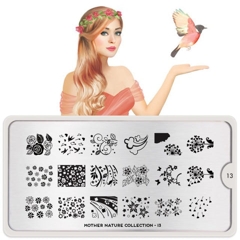 MoYou London Mother Nature 13 stamping plate