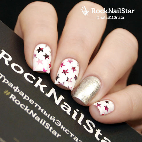 RockNailStar vinyl stencils and stickers - Stars