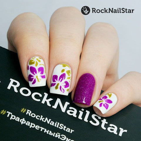 RockNailStar vinyl stencils and stickers - Orchid mini