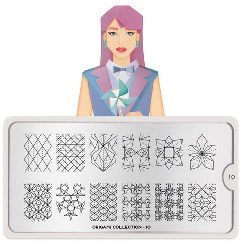 MoYou London Origami 10 stamping plate