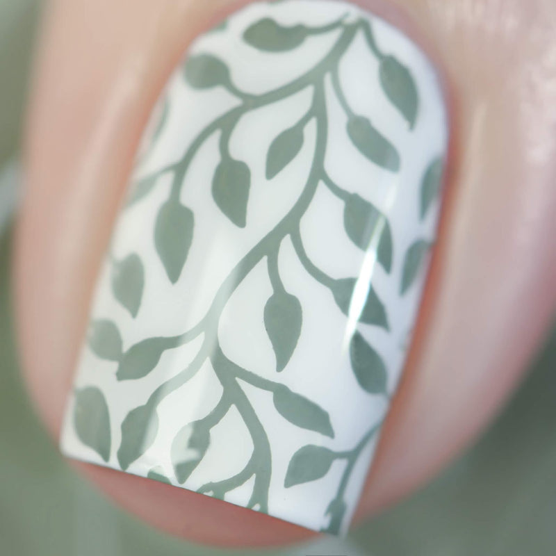 Painted Polish - Stamped in Sage