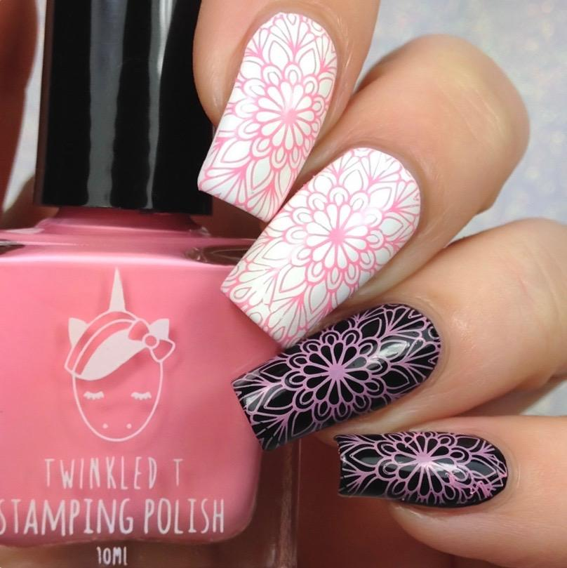 Twinkled T - stamping polish - Tickled