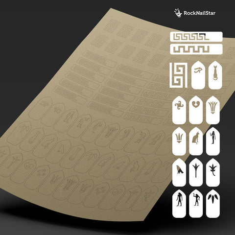 RockNailStar vinyl stencils and stickers - Egypt