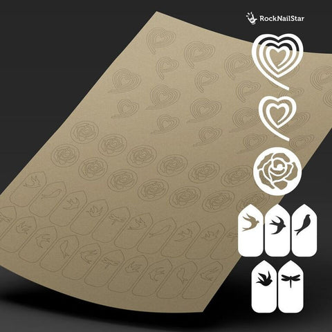 RockNailStar vinyl stencils and stickers - Romantic