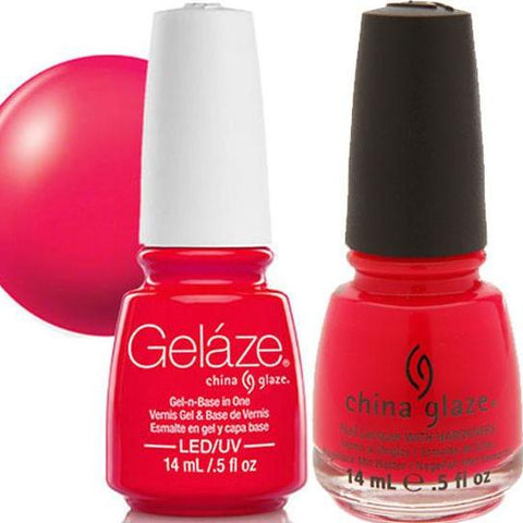 China Glaze - Lacquer & Gel 2 pcs Duo Pack - Rose Among Thorns