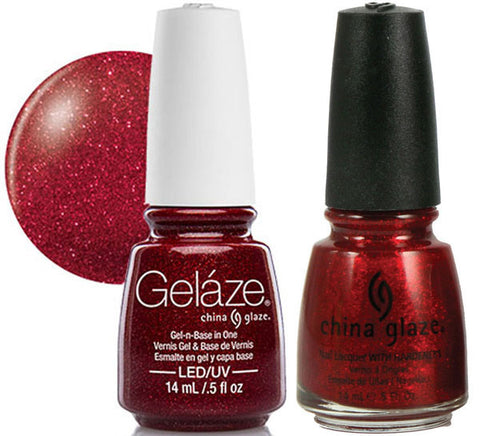 China Glaze - Lacquer & Gel 2 pcs Duo Pack - Ruby Pumps