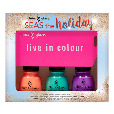 China Glaze - Seas and Greetings - Seas The Holiday Trio (3 x 14ml)