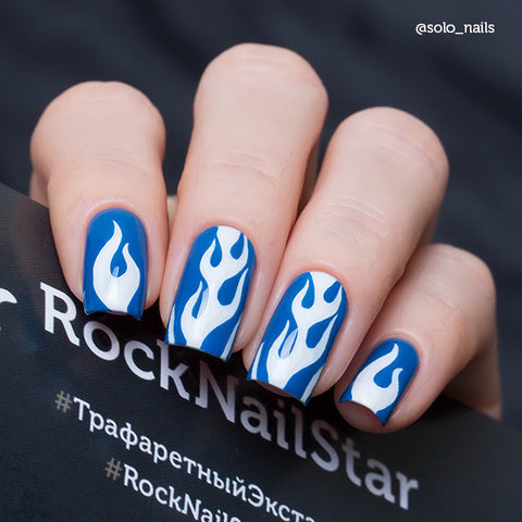 RockNailStar vinyl stencils and stickers - Fire