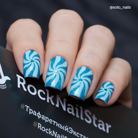 RockNailStar vinyl stencils and stickers - Candy