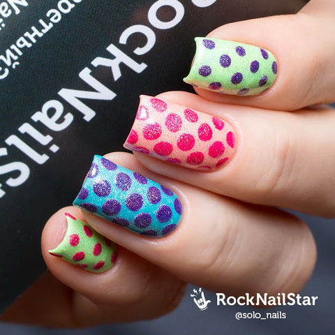 RockNailStar vinyl stencils and stickers - Dots