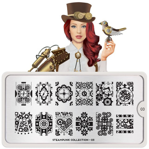 MoYou London Steampunk 03 stamping plate