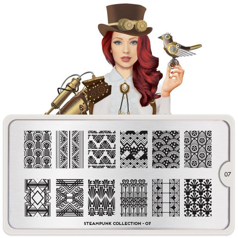 MoYou London Steampunk 07 stamping plate