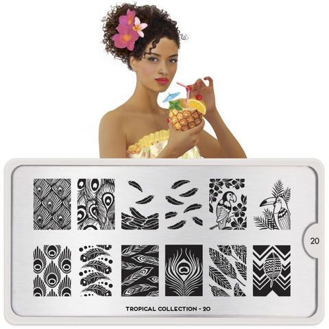 MoYou London Tropical 20 stamping plate