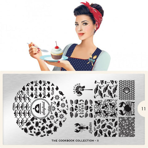 MoYou London Cook Book 11 stamping plate