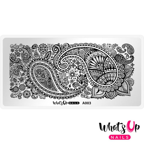 Whats Up Nails - A003 Paisley Buffet stamping plate
