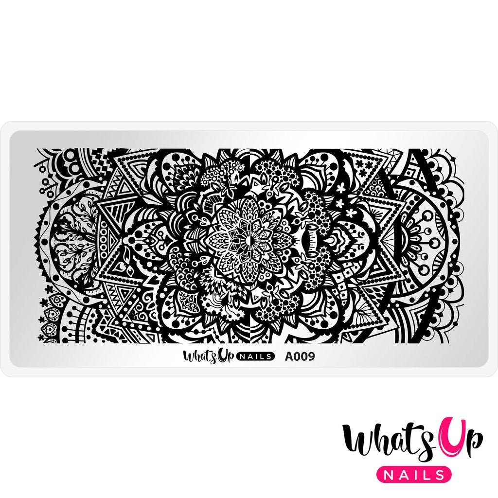 Whats Up Nails - A009 Mandala Universe stamping plate