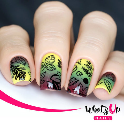 Whats Up Nails - A011 Leaves Are Fall-ing stamping plate