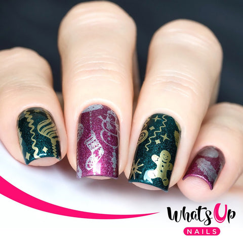 Whats Up Nails - A013 It's a Merry Christmas stamping plate