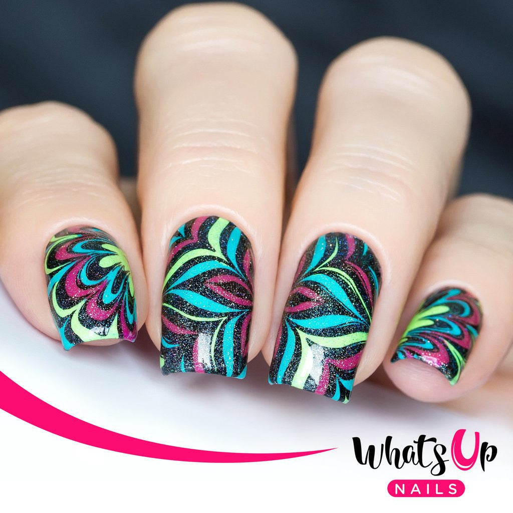 Whats Up Nails - B002 Water Marble to Perfection stamping plate ...