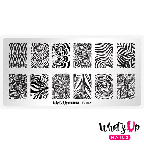 Whats Up Nails - B002 Water Marble to Perfection stamping plate