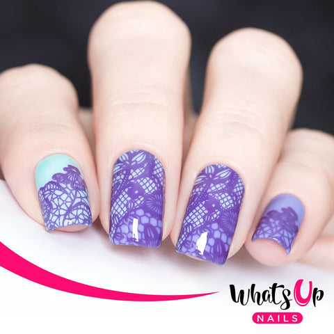 Whats Up Nails - B004 Seductive Lace stamping plate