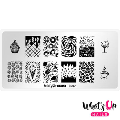 Whats Up Nails - B007 Sugar High stamping plate