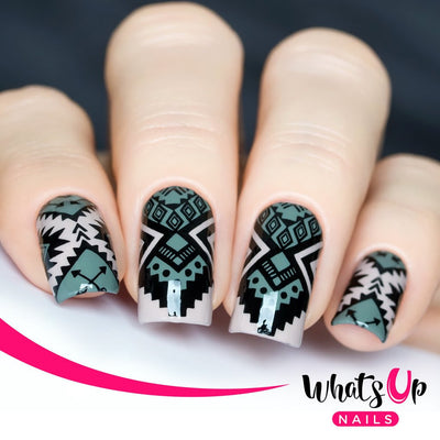 Whats Up Nails - B009 Lost in Aztec stamping plate