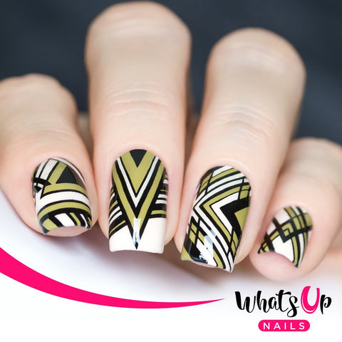 Whats Up Nails - B015 Geo-Radical stamping plate