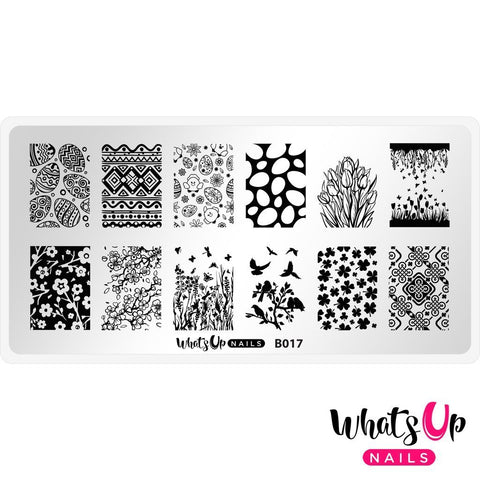 Whats Up Nails - B017 Spring Elation Stamping Plate