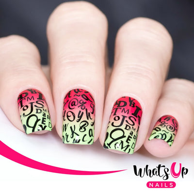 Whats Up Nails - B019 Words of Emotions stamping plate