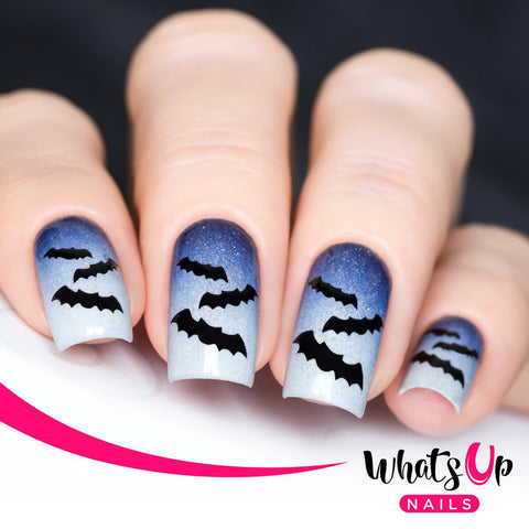 Whats Up Nails - Bats Stickers & Stencils