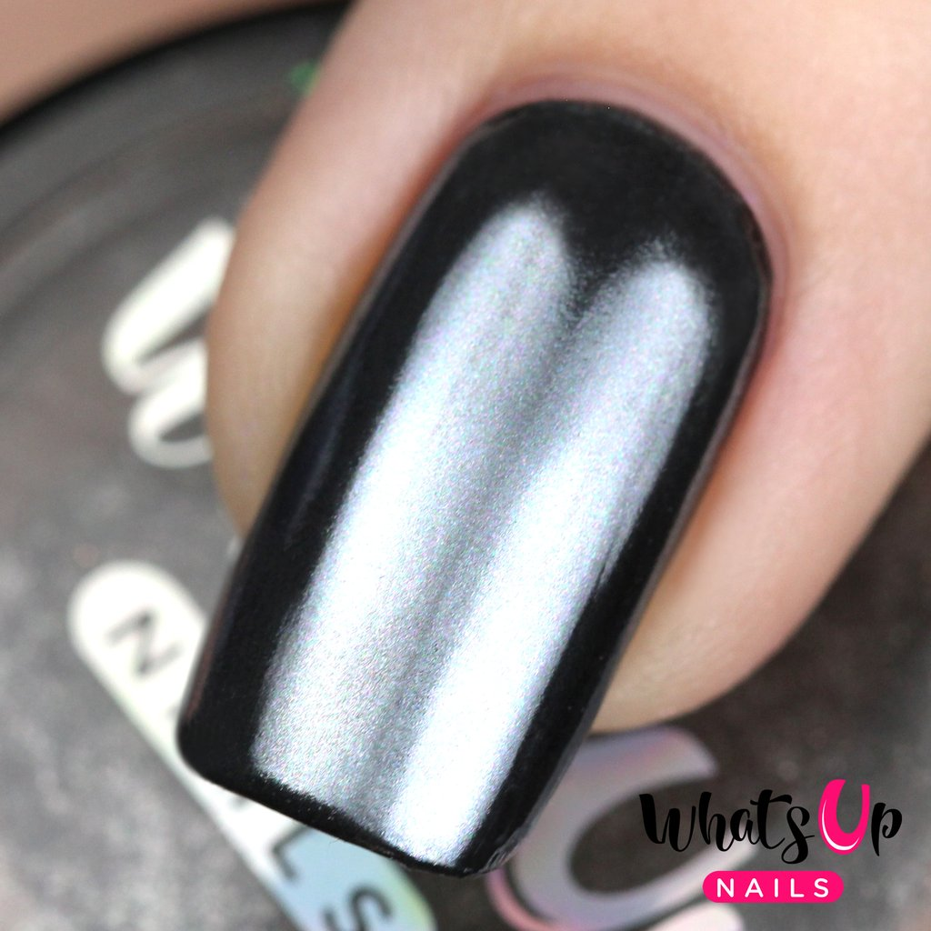 Whats Up Nails - Black Chrome Powder | Hypnotic Polish