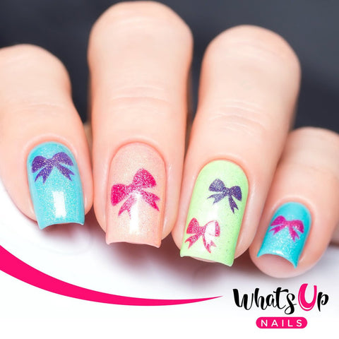 Whats Up Nails - Bow Stickers & Stencils