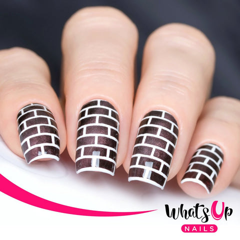 Whats Up Nails - Brick Stencils