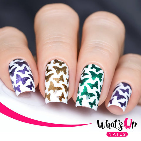 Whats Up Nails - Butterflies Stickers & Stencils