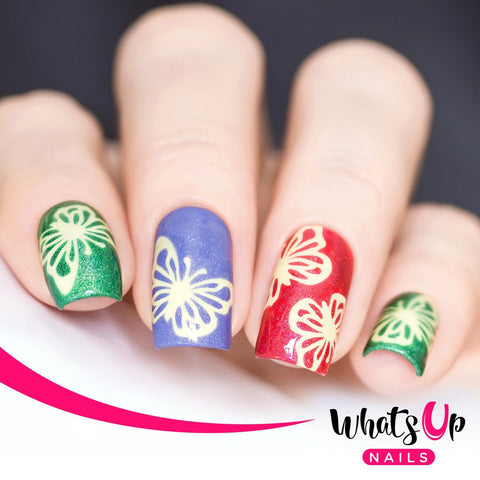 Whats Up Nails - Butterfly Wings Stencils