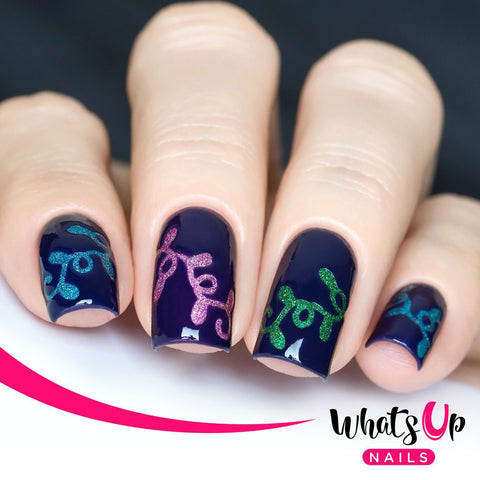 Whats Up Nails - Christmas Lights Stickers & Stencils