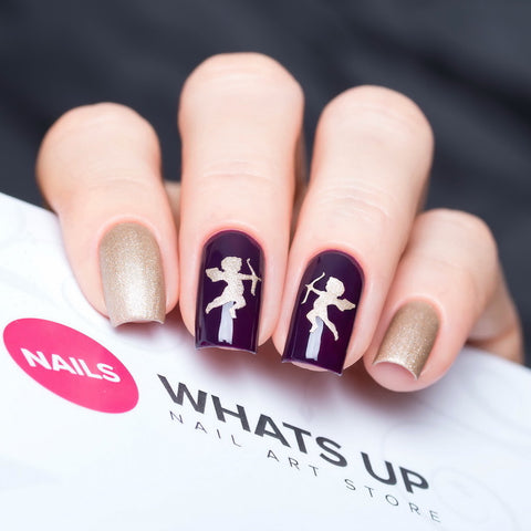 Whats Up Nails - Cupid Stickers & Stencils