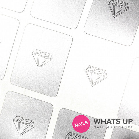 Whats Up Nails - Diamond Gemstone Stickers & Stencils