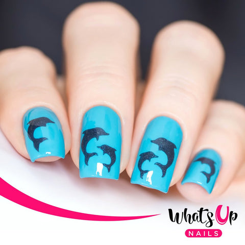 Whats Up Nails - Dolphins Stencils