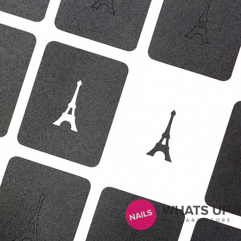 Whats Up Nails - Eiffel Tower Stickers & Stencils