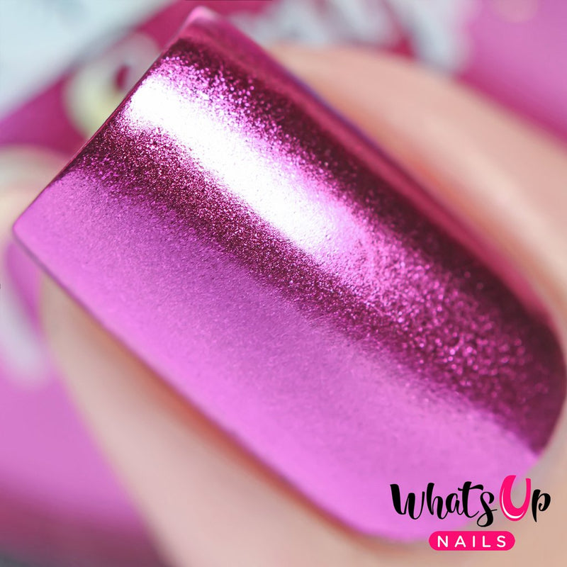 Whats Up Nails - Fuchsia Chrome Powder