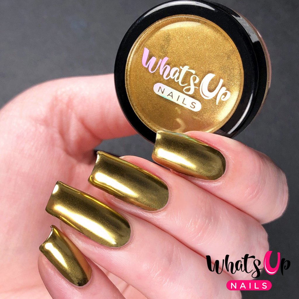 Whats Up Nails - Gold Chrome Powder