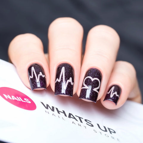 Whats Up Nails - Heartbeat Stickers & Stencils