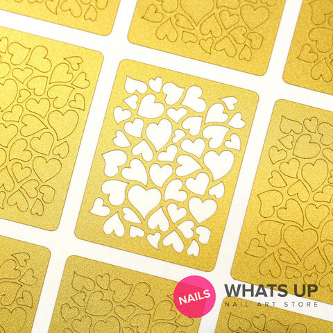 Whats Up Nails - Hearts Stickers & Stencils