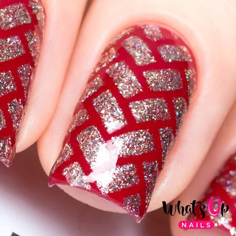 Whats Up Nails - Herringbone Stencils