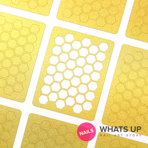 Whats Up Nails - Honeycomb Stencils