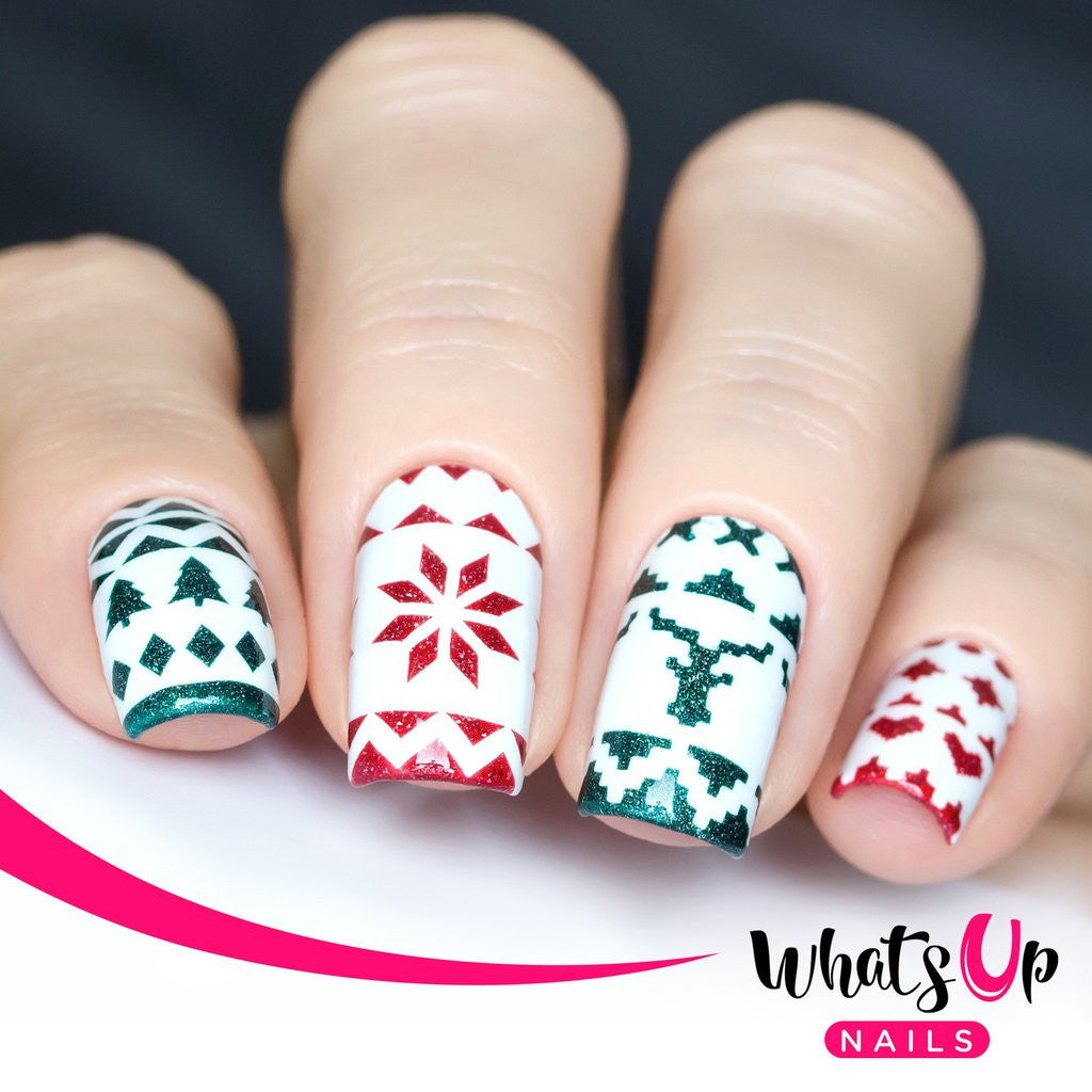 Whats Up Nails - Knit Your Own Sweater Tape & Stencils | Hypnotic Polish